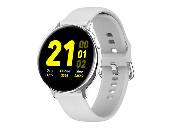 Smart Watch Round Face Health Monitor & Activity Tracker (White)