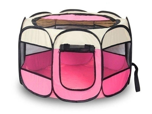 Portable Pet Tent (Pink Large) - Product Image