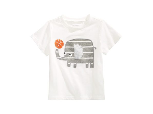 First Impressions Baby Boys Cotton Elephant T-Shirt Whie Size 24 Months