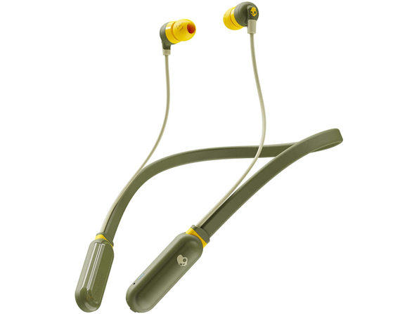 Skullcandy Ink'd+ Wireless BT Earbuds with Microphone - Olive