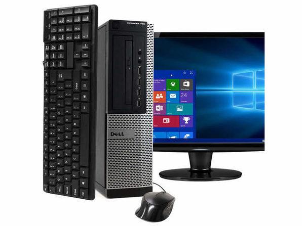 """Dell OptiPlex 790 Desktop PC, 3.3GHz Intel i7 Quad Core Gen 2, 16GB RAM, 1TB SATA HD, Windows 10 Home 64 bit, 19"""" Screen (Renewed)"""