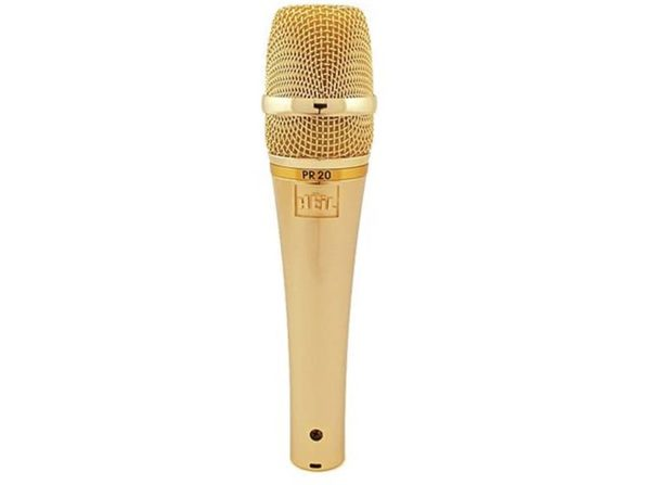 Heil PR20G XLR Wider Frequency Range Low Handling Noise Vocal Microphone - Gold (Used, Damaged Retail Box) - Product Image