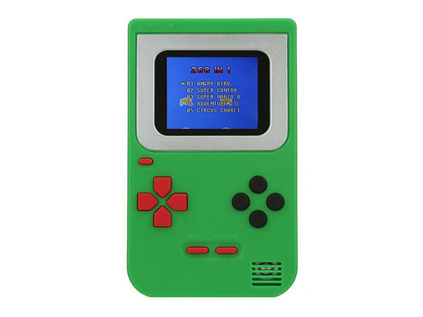 Mini Handheld Game Console 2.0 + 268 Games (Green)