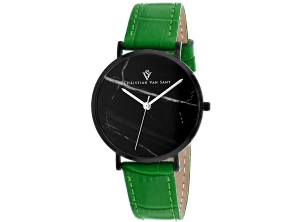 Christian Van Sant Women's Lotus Black Dial Watch - CV0424GR - Product Image