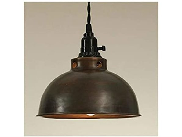 Colonial Tin Works 930029C Antique Cord Certified Dome Pendant Lamp - Copper (New, Damaged Retail Box)