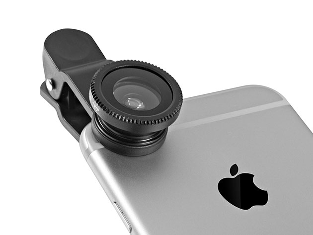 Normally $15, this fish-eye lens kit is 46 percent off