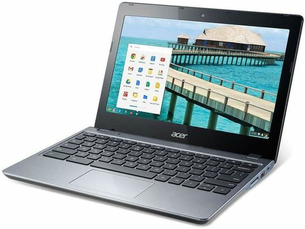 "Acer C720-2844 11"" Chromebook, 1.4GHz Intel Celeron, 4GB RAM, 16GB SSD, Chrome (Grade B)"