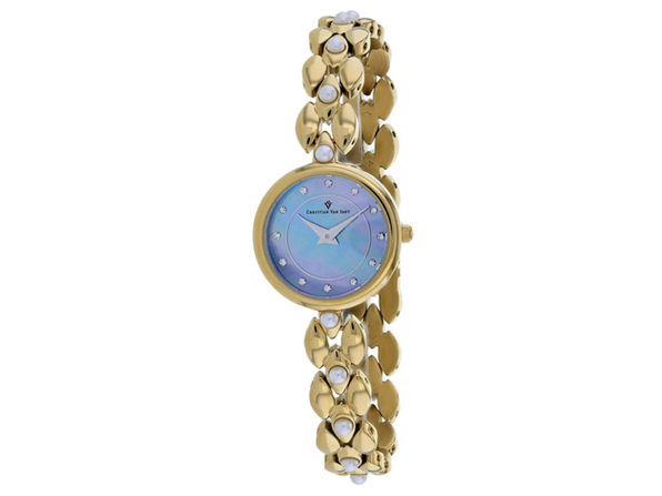 Christian Van Sant Women's Perla Blue mother of pearl Dial Watch - CV0617