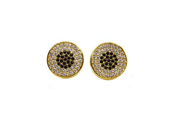Homvare Women's 925 Sterling Silver Bulls Eye Stud Earrings - Silver