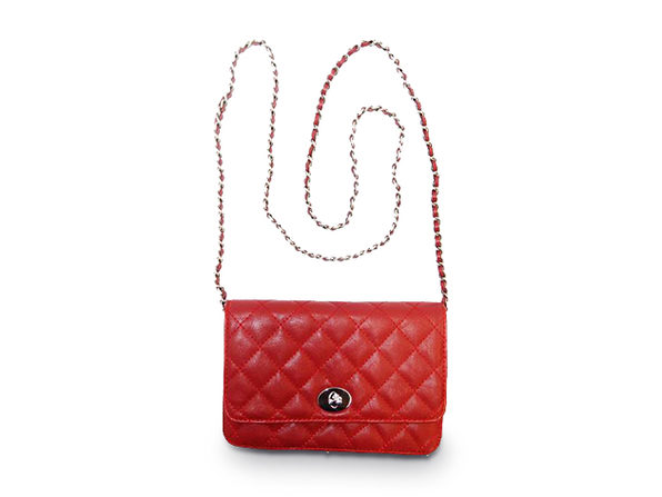 Quilted Maxi Shoulder Bag - Red - Product Image