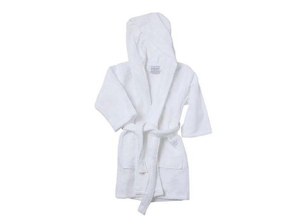 Alvare Luxury Kids Robe (White/Large)