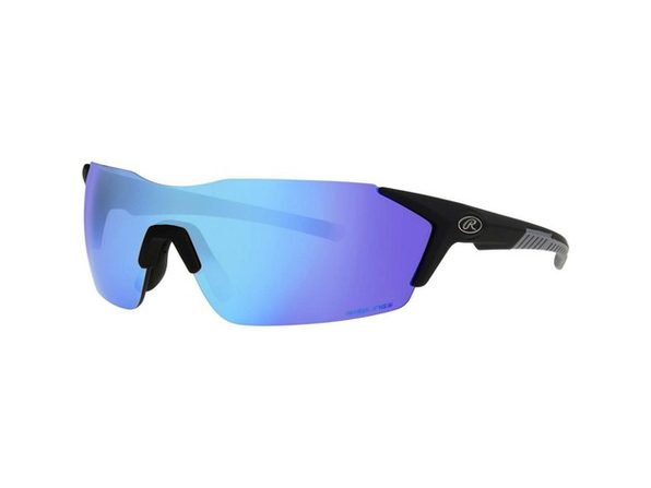 Rawlings 10241771.QTM Blue Mirror Adult Rimless Sunglasses, Black/Smoke - Black