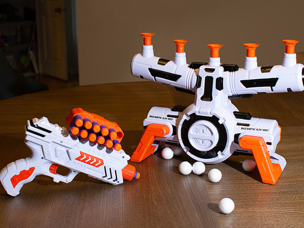 AstroShot Zero G Floating Orbs Target with Dart Blaster Gun & Foam Darts