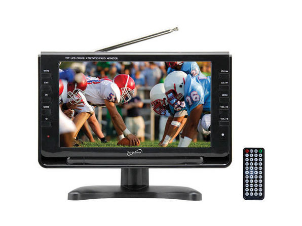 Supersonic SC499 9 inch Portable Widescreen LCD TV with Tuner - Product Image