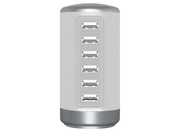 30W 6-Port USB Charging Station (White)