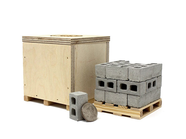 Mini Cinder Blocks With Pallet & Shipping Crate | StackSocial