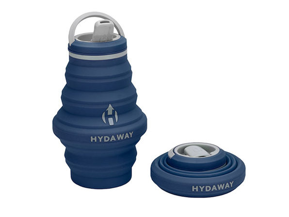 Hydaway 17oz Collapsible Water Bottle with Spout Lid (Seaside Blue)