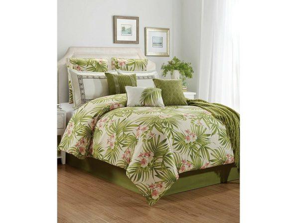 Hallmart Collectibles St. Croix 10 Piece King Comforter Set Green