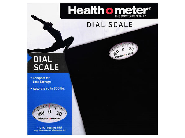 Health O Meter HAB700DQ105 Dial Personal Weight Scale, Black - Black