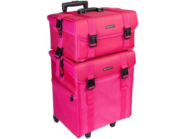 SHANY Soft Makeup Artist Rolling Trolley Cosmetic Case with Free Set of Mesh Bag - SUMMER ORCHID for $249 4