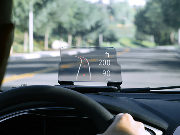 This Futuristic Smartphone Display Lets You Navigate Safely & with Better Visibility