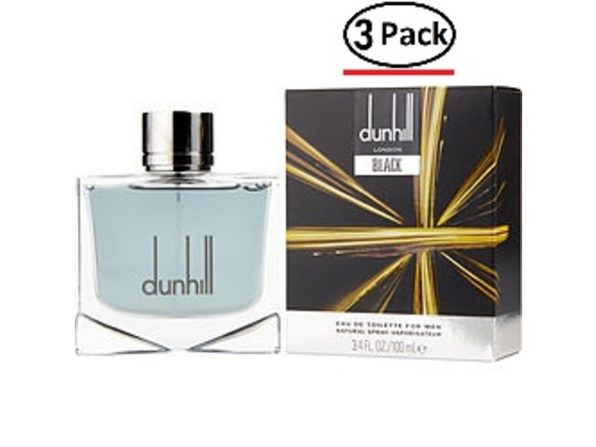 Dunhill Black By Alfred Dunhill Edt Spray 3.4 Oz For Men (Package Of 3) - Product Image