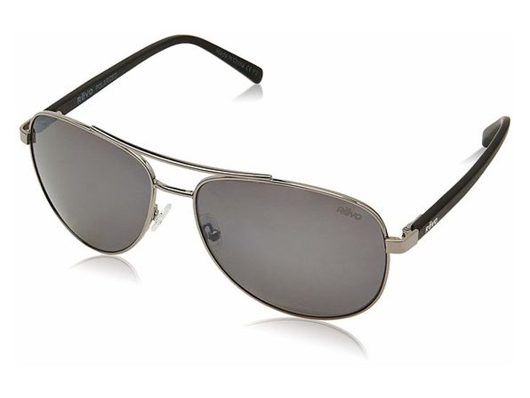 Revo RE 5021 00 GY Shaw Polarized Aviator Sunglasses, Gunmetal, 61 mm - Black