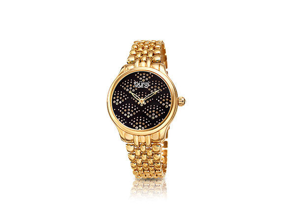 Bürgi Diamond Sparkle Bracelet Watch with Swarovski Crystals (Gold)