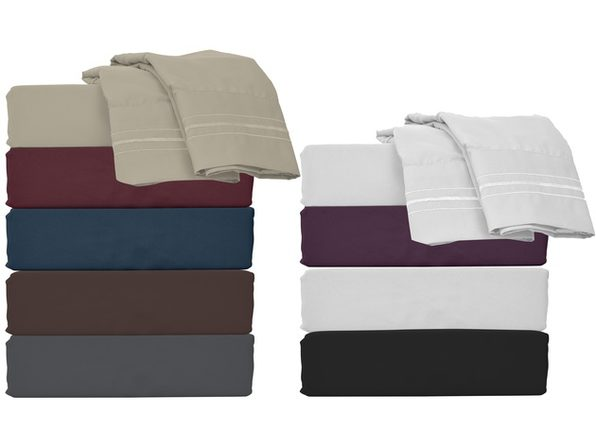 Style Basics Super Soft Brushed Microfiber Bed Sheet Set - 1800 Series Easy-Clean - Queen Purple