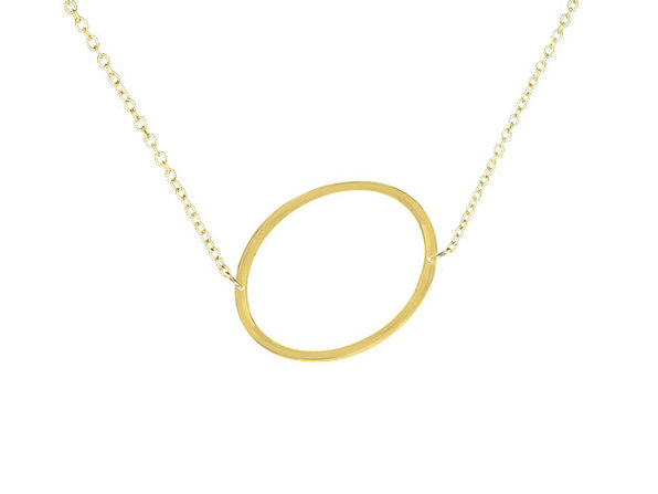 14K Gold Plated Letter Necklace - O - Product Image