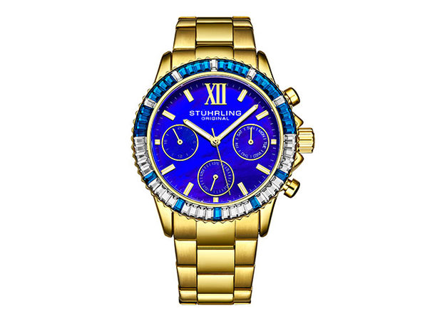 Coronia Quartz 39mm Women's Watch Gold/Blue - Product Image