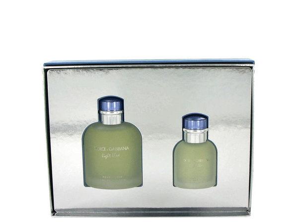 Light Blue by Dolce & Gabbana Gift Set -- 4.2 oz Eau De Toilette Spray + 1.3 oz Eau De Toilette Spray