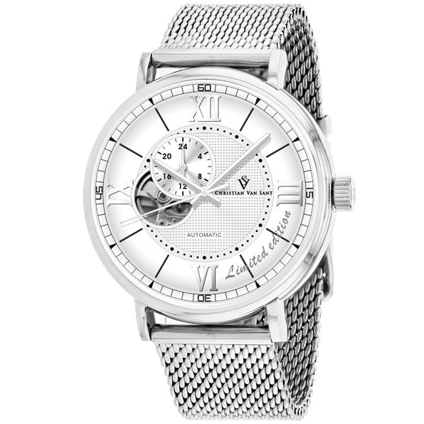 Christian Van Sant Men's Silver Dial Watch - CV1140 - Product Image