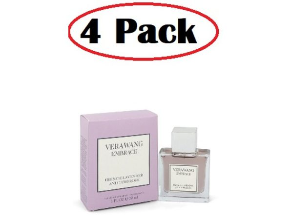 4 Pack of Vera Wang Embrace French Lavender and Tuberose by Vera Wang Eau De Toilette Spray 1 oz - Product Image