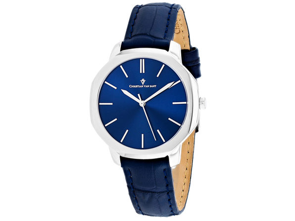 Christian Van Sant Women's Octave Slim Blue Dial Watch - CV0502