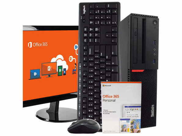 "Lenovo M900 Desktop PC Intel i5-6500 3.2GHz, 8GB RAM, 500GB HD, Windows 10 Pro, Microsoft Office 365 Personal, 22"" LCD, Wireless Keyboard & Mouse, New 16GB Flash Drive, WiFi (Renewed)"