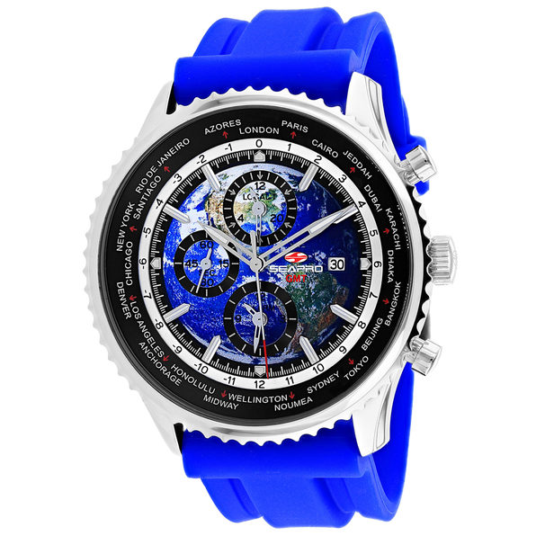 Seapro Men's Meridian World Timer GMT Blue Dial Watch - SP7133RB - Product Image