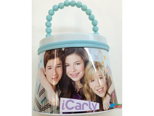 iCarly Round Carry All Tin with Zipper - Blue