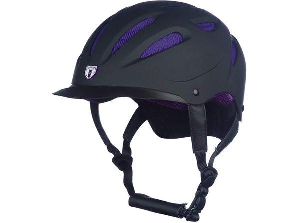 Tipperary 8700 Sportage Hybrid Imported Helmet ABS Plastic, Large - Black/Purple