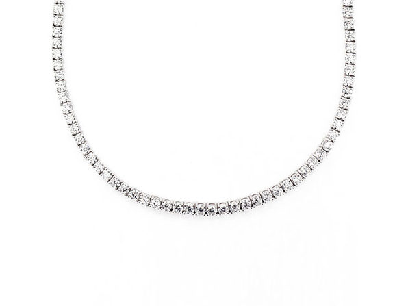 Classic 3mm Tennis Choker Necklace with Swarovski Crystals