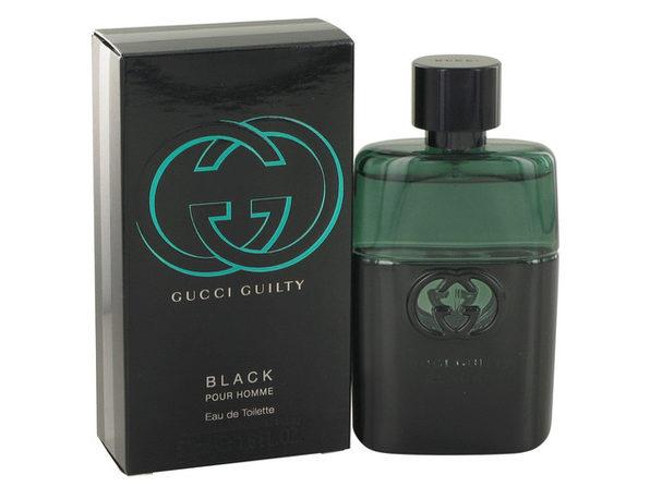 3 Pack Gucci Guilty Black by Gucci Eau De Toilette Spray 1.6 oz for Men
