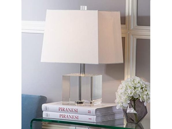 Safavieh LIT4284A Lighting Collection Mckinley Clear Table Lamp, 19 Inch - White (New, Damaged Retail Box)