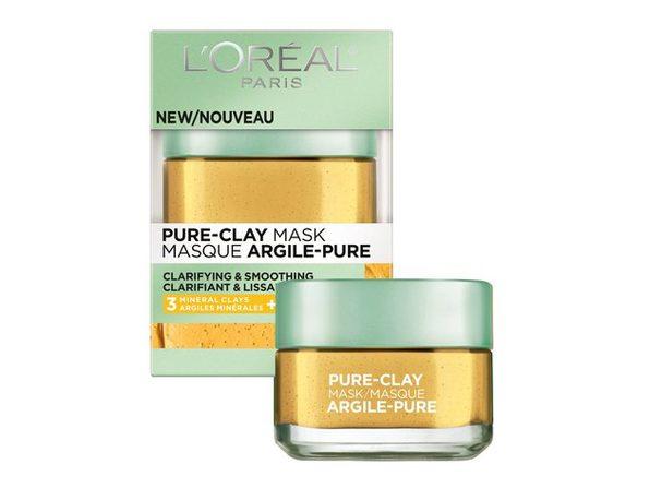 3-PACK L'Oréal Paris Skincare Pure-Clay Face Mask with Yuzu Lemon for Rough Skin to Clarify & Smooth, 1.7 oz. each (5.1 oz.)