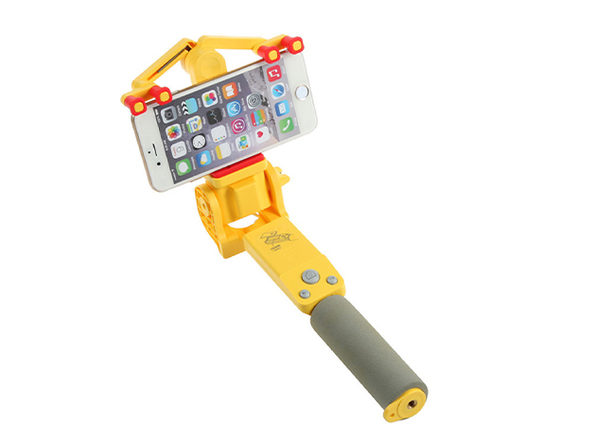 360 Deg. Panoramic Robotic  Selfie Stick - Yellow - Product Image