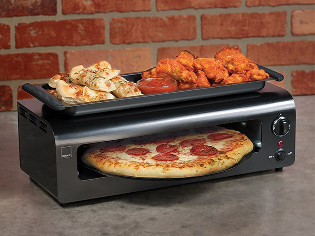 A pizza oven