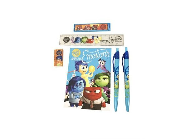 Stationery Set - Inside Out - Blue - 6pc Favor Set