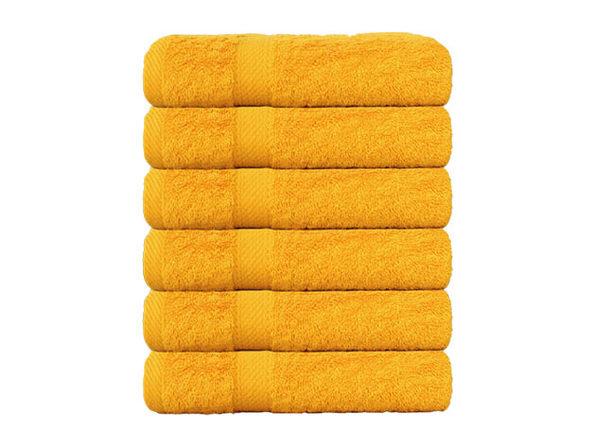 Hurbane Home 6-Piece 100% Cotton Hand Towel Set Yellow - Product Image