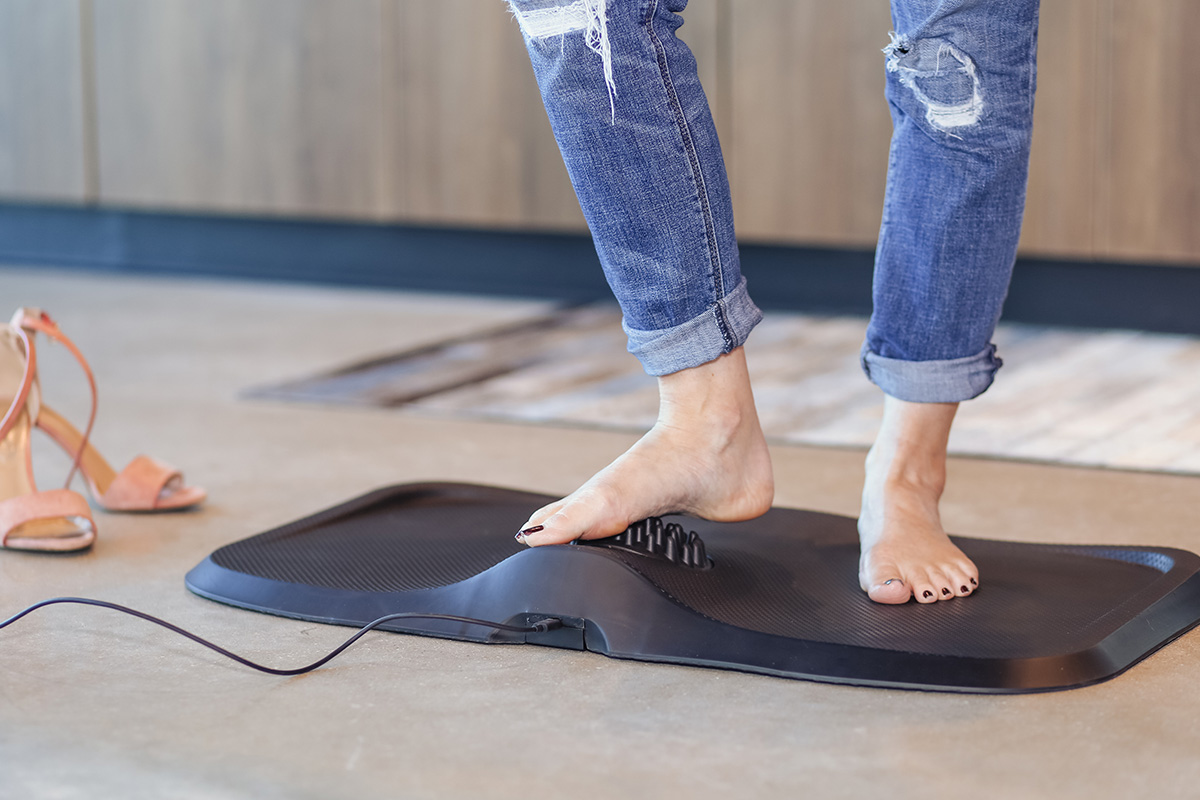 Massage Anti-Fatigue Mat with Built-In Vibrating Foot Massager, on sale for $95.99 when you use coupon code BFSAVE20 at checkout