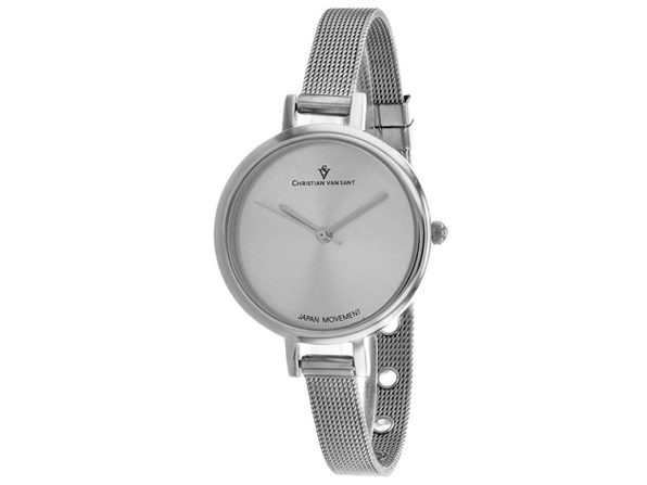 Christian Van Sant Women's Grace Silver Dial Watch - CV0280 - Product Image