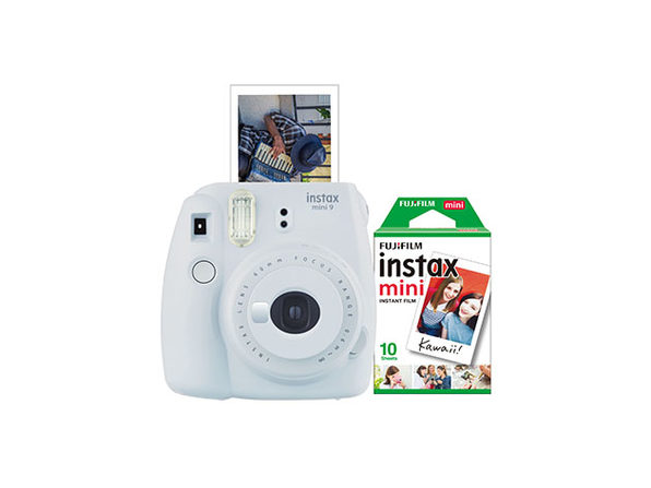 FujiFilm Instax Mini 9 Camera Bundle (Smokey White)